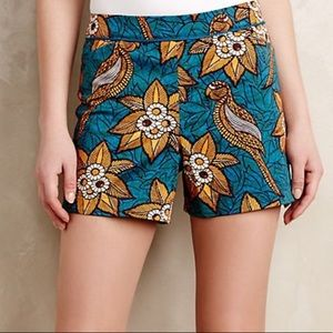 Anthropologie Elevenses Bird Of Paradise Shorts